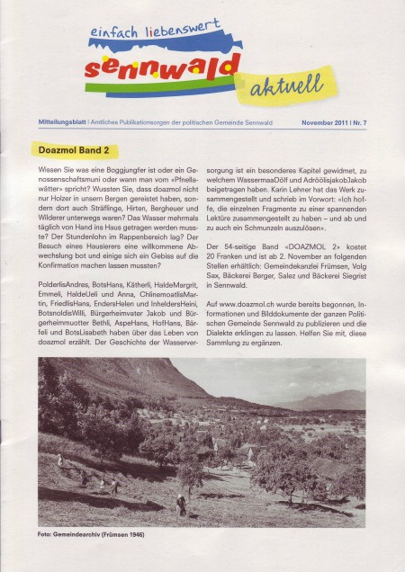 Gemeindenachrichten Nov. 2011