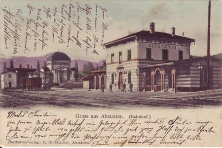 Altstätten Postkarte 5.4.1904