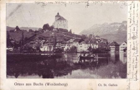 Buchs Postkarte 13.5.1907