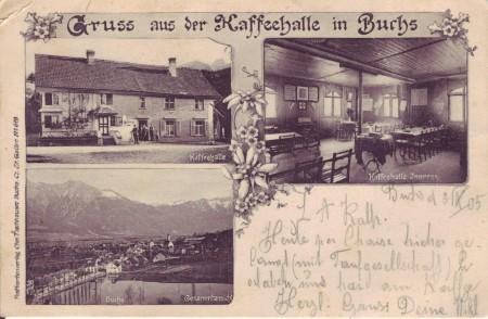 Buchs Postkarte 3.4.1905