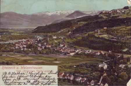 Rheineck Postkarte 1905