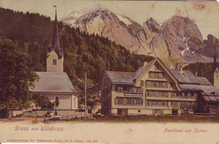 Wildhaus Gasthaus zur Sonne 1908
