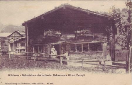 Wildhaus Zwinglihaus Postkarte undatiert