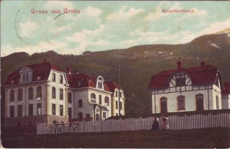 Spital Grabs abgeschickt 1907
