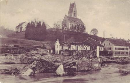 Bendern Rheinüberschwemmung 25 sept 1927