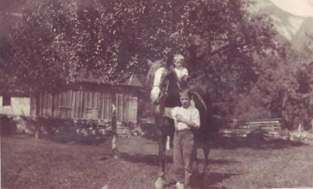Frümsen oder Sax Postkarte abgeschickt 1949
