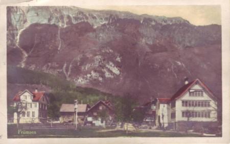 Frümsen Postkarte abgeschickt 1925