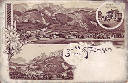 Frümsen Postkarte abgeschickt 1926