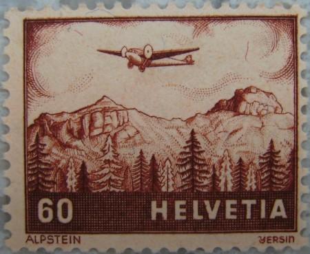 Briefmarke Alpstein 1941 von Albert-Edgar Yersin