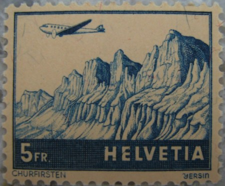 Briefmarke Churfirsten 1941 von Albert-Edgar Yersin