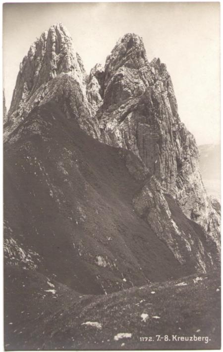 Der siebte und achte Kreuzberg um das Jahr 1910. Fotograf: Max Frei (†1914), St. Gallen, Nr. 1172