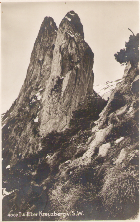 Der erste und zweite Kreuzberg um das Jahr 1920. Fotograf: Hans Gross (1889-1942), St. Gallen, Nr. 4009