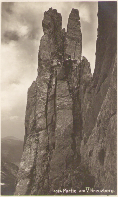 Partie am fünften Kreuzberg um das Jahr 1920. Fotograf: Hans Gross (1889-1942), St. Gallen, Nr. 4084