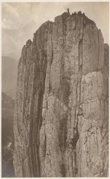 Die Nordwestwand des vierten Kreuzberges um das Jahr 1920. Fotograf: Jean Gaberell (1887-1949), Thalwil, Nr. 1670
