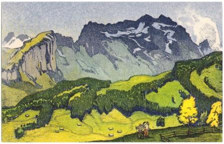 Säntis vom Hirschberg um 1910