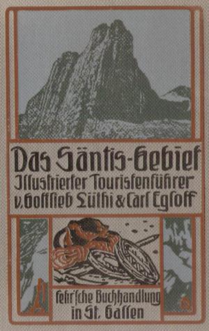 Bucheinband Säntisführer 2. Auflage, 1908