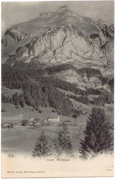 Poststempel vom 12. August 1907, Aufnahme und Verlag der Gebrüder Wehrli, Kilchberg-Zürich, Nr. 12548, um das Jahr 1900 entstanden