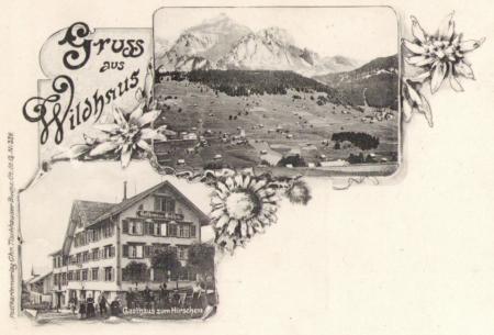 Ungelaufene Postkarte, Aufnahme und Verlag von Chr. Tischhauser, Buchs, Nr. 339, um das Jahr 1900 entstanden