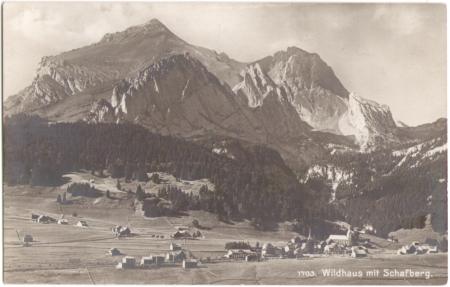 Poststempel vom 27. Oktober 1919, Aufnahme und Verlag von Max Frei, St. Gallen, um das Jahr 1910 entstanden