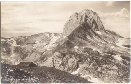 Altmann vom Chreialpfirst mit ehemaliger Schäferhütte um 1910. Aufnahme und Verlag von Max Frei, St. Gallen, Nr. 2043