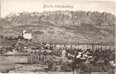 Buchs-Werdenberg um das Jahr 1910