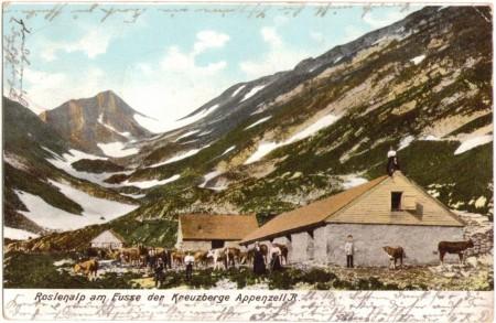 Roslenalp mit Mutschen 1905