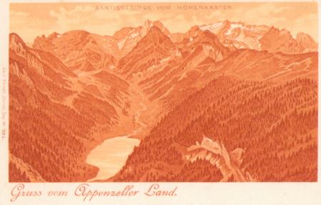 Das Säntisgebirge um das Jahr 1910