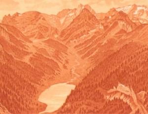 Saentisgebirge vom Hohen Kasten um 1910 beschnitten