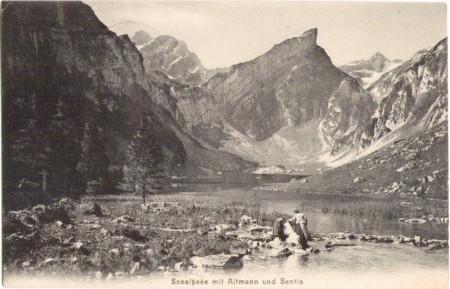 Seealpsee um 1900. Aufnahme und Verlag der Gebrüder Wehrli, Kilchberg, Zürich, Nr. 14051