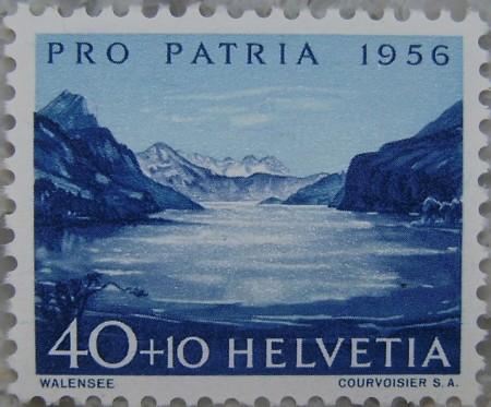 Der Walensee, 1956, entworfen von Ponziano Togni 1906-1971