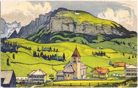 Brülisau mit Ebenalp um 1910