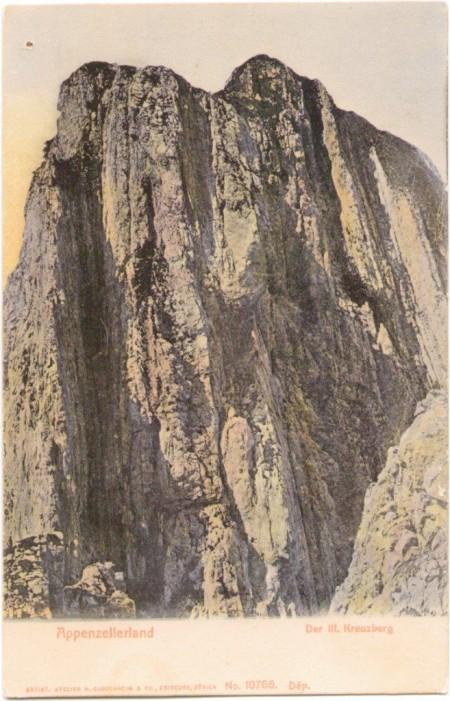Der dritte Kreuzberg um das Jahr 1900. Aufnahme und Verlag von Hermann Guggenheim (1864-1912), Zürich, Nr. 10766