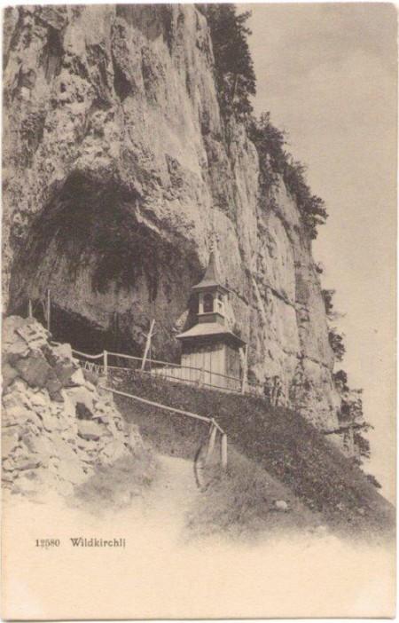Das Wildkirchli um 1900. Aufnahme und Verlag der Gebrüder Wehrli, Kilchberg, Zürich, Nr. 12580