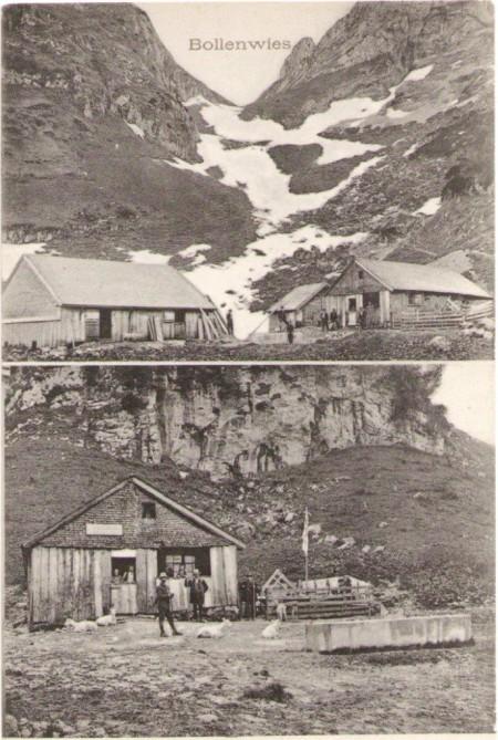 Die alte Wirtschaft Bollenwees um das Jahr 1910. Aufnahme und Verlag von G. Metz, Basel