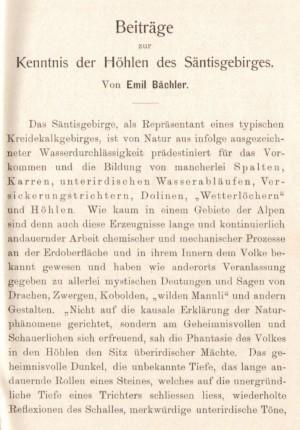 Emil Baechler - Hoehlen im Saentisgebirge 1905_1