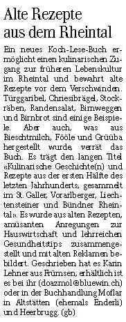 Doazmol im Rheintaler am 6.12.2012