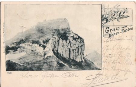 Hoher Kasten Foto Gebr. Metz, Kunstverlags-Anstalt, Basel, Nr. 9428 _RU