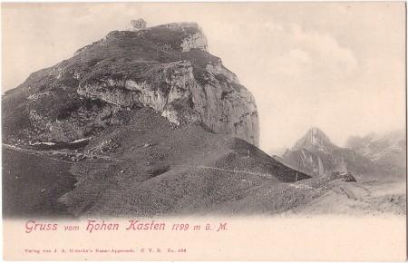 Hoher Kasten Foto J. A. Hersche's Bazar-Appenzell, C T. B., No. 396 _RU