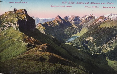 Hoher Kasten Foto Paul Bender, Zollikon-Zürich, Nr. 1510 _RU