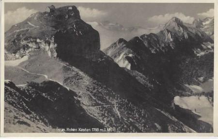 Hoher Kasten Foto Phot. Hans Gross, St. Fiden, Nr. 1134 _RU