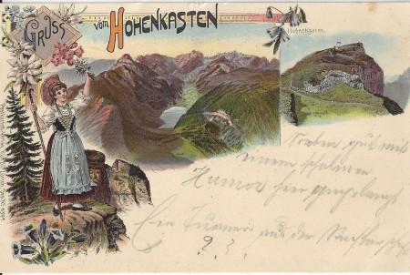 Hoher Kasten Foto Postkarten-Verlag Künzli, Zürich, Dep. No. 639 _RU