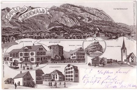 Sennwald Foto Buchd. Leop. D. Guggenheim, Zürich, No. 6682, Verlag von Wohlwend Küfer, Handlung _RU (2)