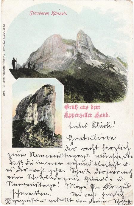 Staubern Foto Postkartenverlag Künzli, ZH, Dep. No. 3897 _RU